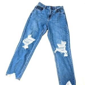 American Eagle High Rise Crop Ankle Mom Jeans